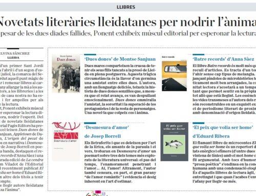 «A pesar de les dues diades fallides, Ponent exhibeix múscul editorial per esperonar la lectura»